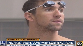 Michael Phelps officially retires from competitive swimming - Video