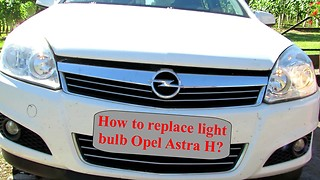 How to replace headlight bulb on Opel Astra H, 2004-2009  - Video