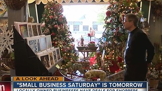 'Small Business Saturday' Is Tomorrow