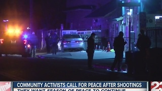 Activists call for peace after recent shootings - Video