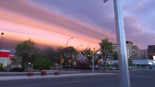 Beautiful pink roll cloud appears over Saskatchewan