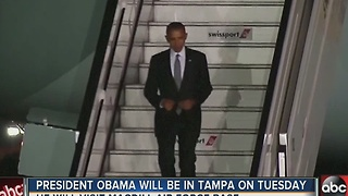 President Obama coming to Tampa on Tuesday