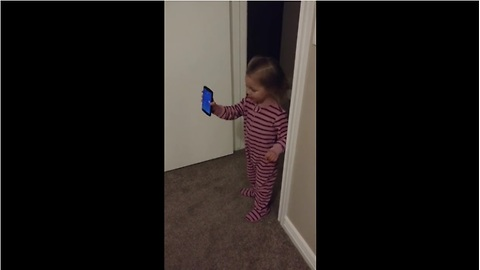 "Little girl ""shows"" grandpa new home during phone call"