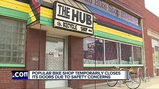 Popular Detroit bike shop temporarily closes its doors due to safety concerns - Video