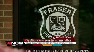 Fraser votes down tax increase millage for public safety - Video