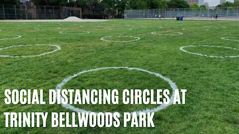 Trinity Bellwoods' New Social Distancing Circles Look So Surreal