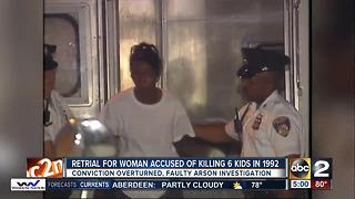 Mother being re-tried for allegedly setting fire that killed 6 of her kids - Video
