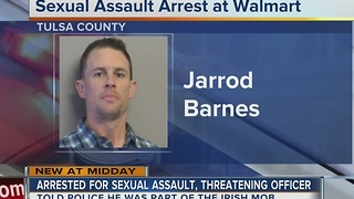 Man arrested for sexual assault, threatening officer - Video