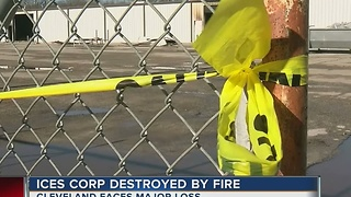 ICES Corp DesTroyed By Fire - Video