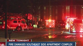 Fire damages southeast side apartments - Video