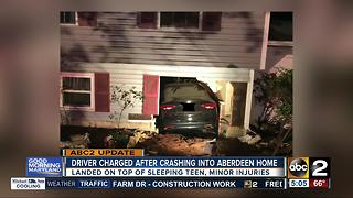 Driver charged after crashing into Aberdeen home - Video