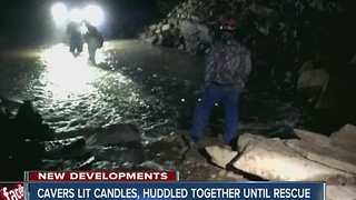 Indiana cavers lit candles, huddled together until rescue - Video