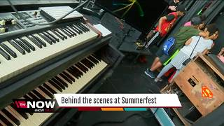 Behind the scenes at Summerfest