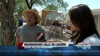 Tucson neighborhood reaches out to City officials for help cleaning up neighborhood - Video