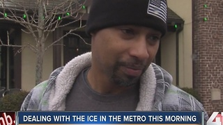 Dealing with ice in the metro this morning - Video