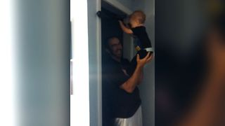 Buff Baby Shows Off With Pull Ups - Video