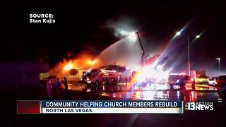 Community helps destroyed church - Video