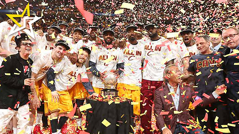 Cleveland Cavaliers Win The 2016 NBA Title And Break Out The Champagne