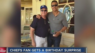 Chiefs fan gets a birthday surprise - Video