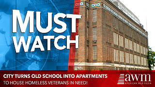 City Transforms Old School Into Beautiful New Apartments For Homeless Veterans - Video
