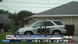 Man charged with battery and child neglect after racial accusations - Video