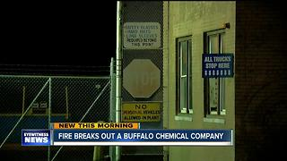 Overnight fire at Buffalo chemical plant - Video