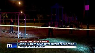 One person taken to ECMC after shooting at playground - Video