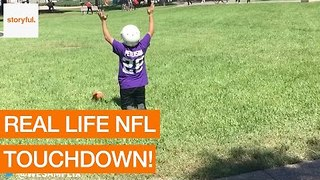College Students Imitate NFL Players on Campus Grounds - Video