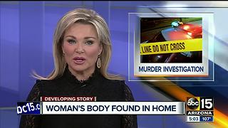 Woman found dead in Mesa home - Video