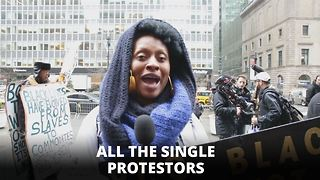 Me, Myself and I: The saddest Beyonce protest ever - Video
