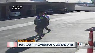 4 sought in car burglaries near Desert Inn, Valley View - Video