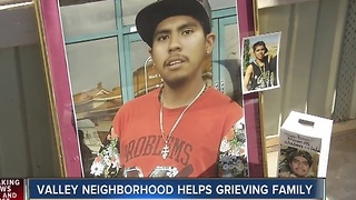 Neighborhood comes together to help family struck by tragedy.
