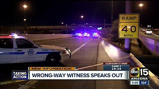 Wrong-way witness and Governor Ducey speak out after deadly SR51 crash Tuesday - Video
