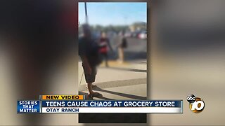Video shows grocery staff and customers confront irreverent teens