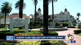 TEAM 10: Guests claim they got sick at dining event - Video