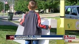Lemonade stand raises money for Texas - Video