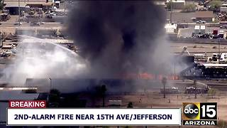 FD: 2nd-alarm fire at central Phoenix recycling plant - Video