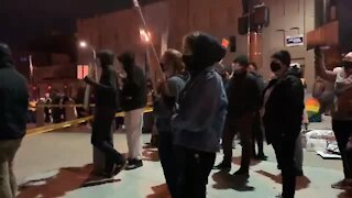 RAW VIDEO: Protest held over Kenneth Jones death (explicit language)