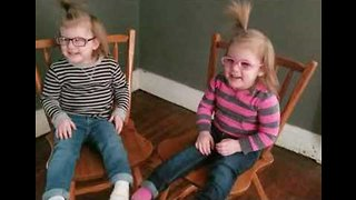 First Pairs of Glasses Help Twin Tots See the World Anew