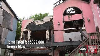 Burned-out home now burdening Treasure Island community | Digital Short - Video