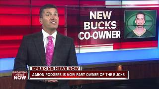 Aaron Rodgers buys in, named part owner of the Milwaukee Bucks - Video