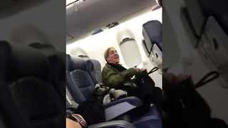 Airline Passenger Quickly Changes Tune When Threatened With Explusion