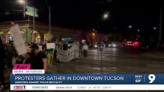 Protesters gather in downtown Tucson to march against Tucson Police, Chief Magnus