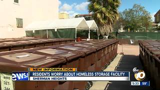 Residents concerned about homeless storage facility in Sherman Heights