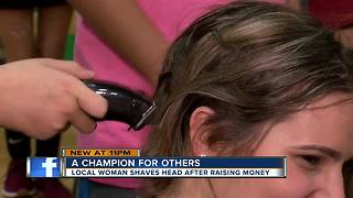 Teenager shaves head after visiting cancer patients at local hospitals