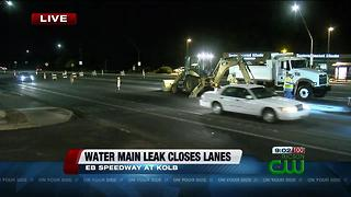 Repair in progress on water main leak at Speedway and Kolb - Video