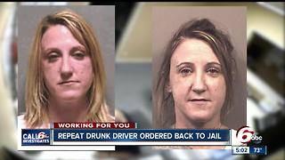 Repeat drunk driver ordered back to jail