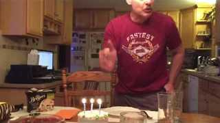 This Dad May Change Your Mind About Blowing Out Birthday Candles - Video