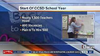 Clark County School District hires hundreds of teachers - Video