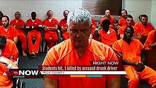 1 of 5 students hit by drunk driver dies - Video